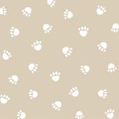 sand paw print fabric, pet fabric, dog fabric, cat fabric
