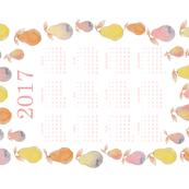 Pastel Pears Calendar - 2017