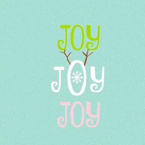 Joy Joy Joy 21 LARGE - snow seafoam coast snowfall