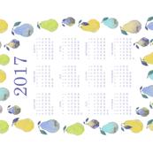 Watercolor Pears Calendar - 2017