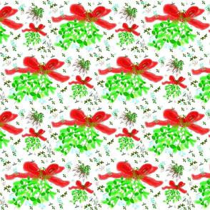 mistletoe ditsy