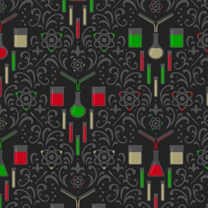 Mad Science Damask (Christmas)