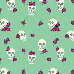 Skulls and Roses Mint