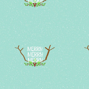 Merry 3 Antlers  14 -seafoam snow