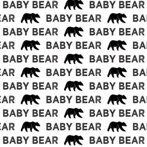 Baby Bear || black & white