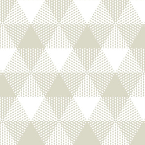 large triangle plaid - bisque and white