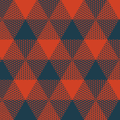 triangular buffalo check - navy and red