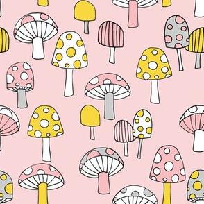 Toadstools__pink__yellow___grey