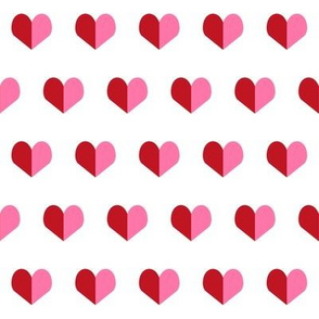 red and pink hearts red valentines fabric heart design valentines design