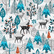 Winter Snow Woodland Animals
