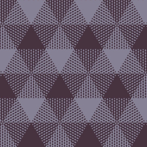 large triangle plaid - mauve and lavender-grey