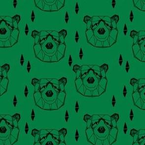 bear head // geometric bear face bears fabric green nursery boys design andrea lauren fabric