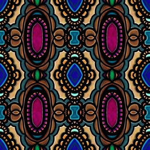 Stained Glass | Project 190 | Framed | Dark Gem Tones