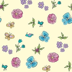Retro Floral (small quilt print)