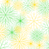 Snowflakes Yellow-Green