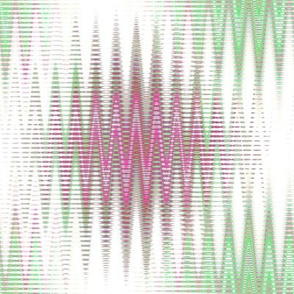 Atomospheric Zig Zag in Hot Pink and Spring Green