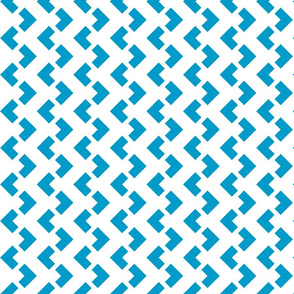 Chevron nested two frequency white -teal