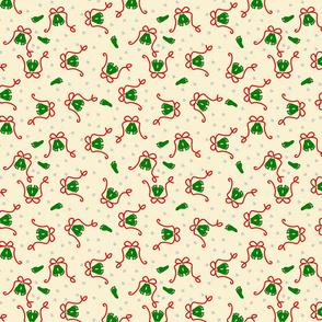baby mistletoe footprints