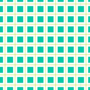 Cross grid in blue and Green