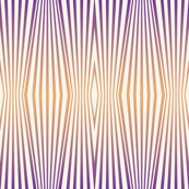 Zebra diamond op art stripes, orange to mauve on off-white by Su_G