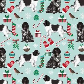 newfoundland christmas fabric dog xmas holilday christmas fabric dogs fabric landseer dog newfoundlands