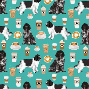 newfoundland coffee fabric dog fabric dogs design coffees fabric landseer newfoundlands fabric