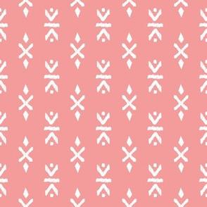 Monochrome tribal navajo aztec indian summer ethnic print pink girls