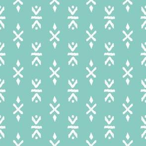 Monochrome tribal navajo aztec indian summer ethnic print mint gender neutral