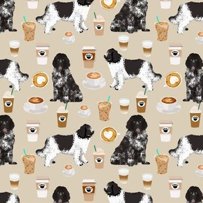 newfoundland coffee fabric dog fabric dogs design coffees fabric landseer newfoundlands fabric