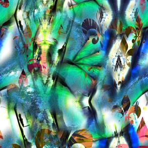 Aurora borealis watercolor