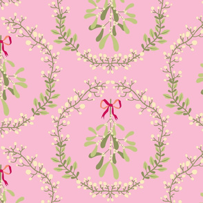 Mistletoe_wreath_fond_pink_L