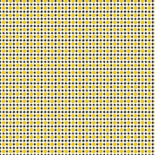 Yellow, White and Black Ditsy MinitureRetro Dolly Ditsy Floral