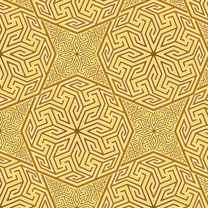 Arabic abstract in yellows