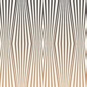 Zebra diamond op art stripes, tan to gray on off-white by Su_G