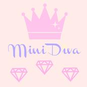 Mini Diva, princess crown, diamond, baby blanket, baby nursery, pink baby