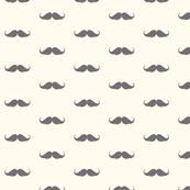 moustache LARGE space print