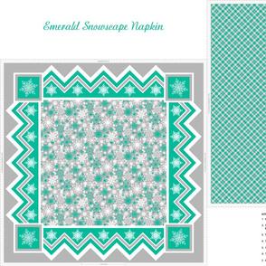 Emerald Snowscape Napkin