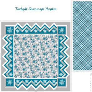 Twilight Snowscape Napkin