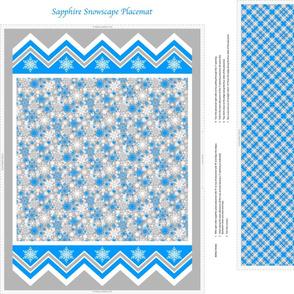 Sapphire Snowscape Placemat