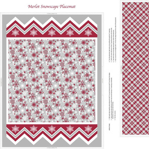 Merlot Snowscape Placemat