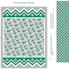 Forest Snowscape Placemat