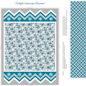 Twilight Snowscape Placemat