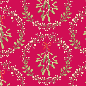 Mistletoe_wreath_fond_rouge_L