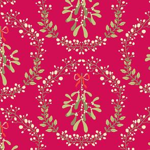 Mistletoe_wreath_fond_rouge_L