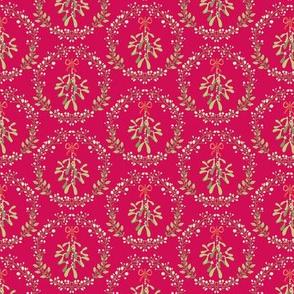 Mistletoe_wreath_fond_rouge_S