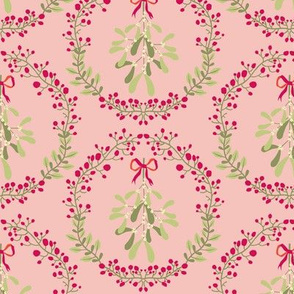 Mistletoe_wreath_fond_saumon_M