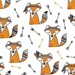 fox with arrows