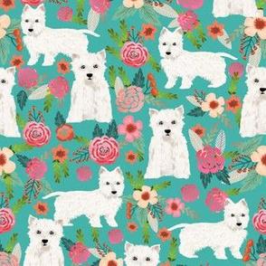 westie florals fabric cute dog design west highland terrier dog fabric cute westies floral fabric