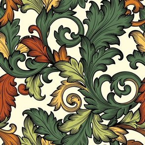 Acanthus Leaves (Baroque Cream )
