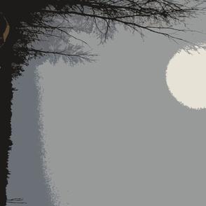 Moonlit woods xl